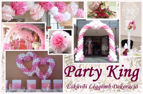 8e22491324 Esküvői Léggömb Dekorációk Party King Esküvő Léggömb Dekor